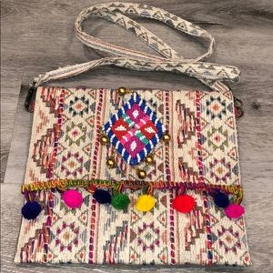 Tapestry Free People Beaded Pom Crossbody Purse